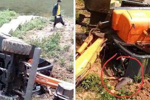 Tài xế máy xúc tử vong thương tâm ở Na Sang - Điện Biên