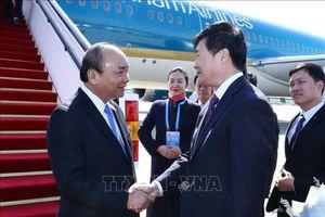 Thủ tướng Nguyễn Xuân Phúc bắt đầu tham dự diễn đàn Vành đai và Con đường tại Trung Quốc