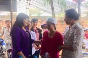 Hội LHPN Bình Dương thăm hỏi, hỗ trợ gia đình 3 nạn nhân bị sát hại