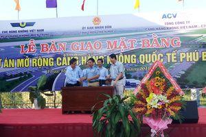 Thừa Thiên Huế: Bàn giao đất Dự án mở rộng sân bay Phú Bài