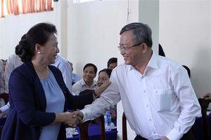 Chủ tịch quốc hội Nguyễn Thị Kim Ngân tiếp xúc cử tri tại quận Ninh Kiều, tp.cần Thơ