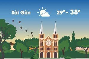 Thời tiết ngày 26/4: Sài Gòn nóng 38 độ C, Hà Nội mưa dông chiều tối