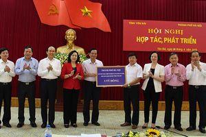 Hà Nội đẩy mạnh hợp tác trên nhiều lĩnh vực với Yên Bái