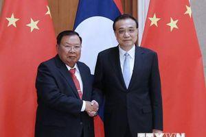 Thủ tướng Trung Quốc hội kiến Tổng Bí thư, Chủ tịch nước Lào