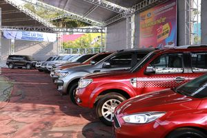 Hơn 60 xe được chốt tại hội chợ lái thử tại Tp Hồ Chí Minh
