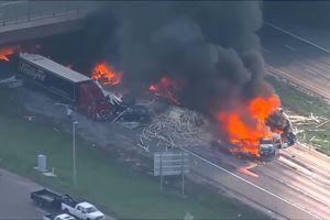 Tai nạn kinh hoàng, 28 ôtô 'bốc hơi' ở nhiệt độ hơn 1.300 độ C