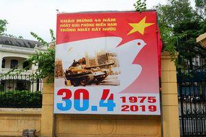 Hà Nội trang hoàng cờ hoa mừng các ngày Lễ lịch sử của đất nước năm 2019