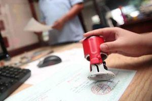Sử dụng con dấu chưa đăng ký mẫu bị xử phạt thế nào?