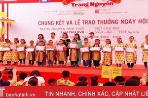 7 học sinh Hà Tĩnh đạt giải 'Trạng nguyên nhỏ tuổi' và 'Nét chữ nết người'