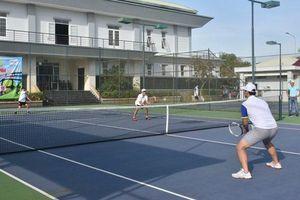 42 tay vợt dự Giải tennis các CLB Công an tỉnh
