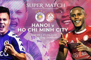 Lịch thi đấu vòng 7 V-League hôm nay (27/4): Hà Nội đại chiến TPHCM