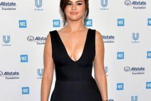 Selena Gomez tái xuất đẫy đà với váy xẻ