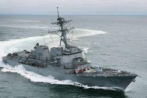 2 tàu chiến Mỹ đi qua eo biển Đài Loan