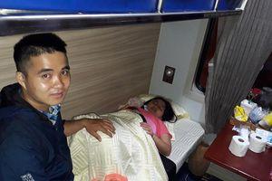 Một bé gái vừa chào đời trên đoàn tàu Thống Nhất