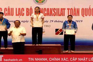 VĐV Hà Tĩnh giành HCV tại Giải vô địch các CLB Pencak Silat toàn quốc 2019