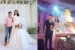 Lê Hà diện váy cưới lộng lẫy sánh đôi cùng chồng doanh nhân