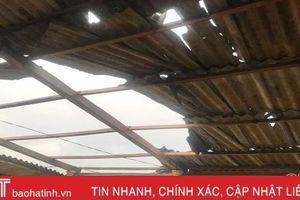 Hương Khê: Lốc xoáy gây thiệt hại hơn 300 triệu đồng