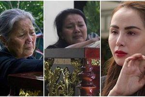 Hoa hậu Diễm Hương và dàn nghệ sĩ kỳ cựu nhạt nhòa nước mắt trước linh cữu cố diễn viên Lê Bình