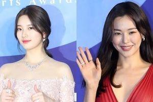 Suzy lấn át 'Hoa hậu Hàn đẹp nhất lịch sử' trên thảm đỏ