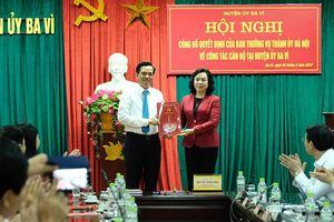Ông Dương Cao Thanh làm Bí thư Huyện ủy Ba Vì