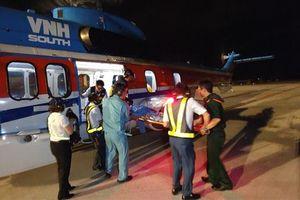 Ngư dân nguy kịch được cứu sống bằng trực thăng ở Trường Sa
