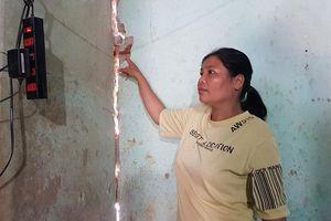 Thanh Hóa: Dân phải sơ tán do nhà lún sụt