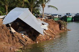 Sạt lở bờ sông Tiền, một bà cụ thiệt mạng vì rơi xuống nước