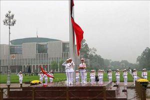 Lễ treo cờ rủ Quốc tang nguyên Chủ tịch nước, Đại tướng Lê Đức Anh