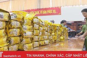 Bí thư Tỉnh ủy Hà Tĩnh khen các lực lượng về thành tích phá án ma túy