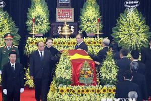 Hình ảnh lễ truy điệu nguyên Chủ tịch nước, Đại tướng Lê Đức Anh