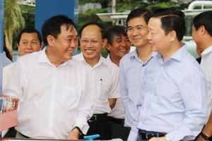 Bộ trưởng Trần Hồng Hà đánh giá cao công trình xử lý nước thải của ông Dũng 'lò vôi'