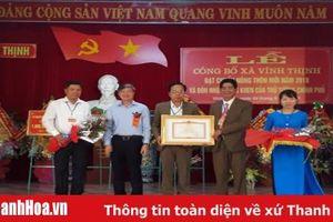 Xã Vĩnh Thịnh (Vĩnh Lộc) đón nhận quyết định xã đạt chuẩn nông thôn mới và Bằng khen của Thủ Tướng Chính phủ