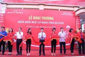 Viện Huyết học - Truyền máu Trung ương khai trương điểm hiến máu cố định tại Hà Nam