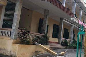 Hòa Bình: Bị cột bê tông rơi trúng, một trong hai học sinh đã tử vong