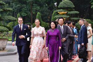 Phó Chủ tịch nước Đặng Thị Ngọc Thịnh chủ trì lễ đón chính thức Công chúa kế vị Thụy Điển