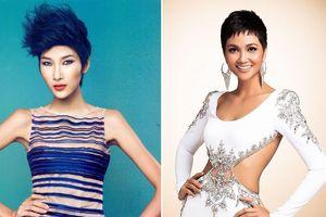 Hoàng Thùy cắt tóc ngắn giống H'Hen Niê trước thềm Miss Universe 2019?