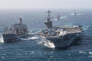 Mỹ bất ngờ triển khai tàu sân bay và máy bay ném bom tới Trung Đông