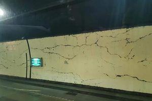 Hầm Hải Vân nứt chằng chịt: Không sơn, sửa vết nứt để theo dõi