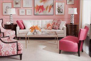 Những mẫu phòng khách màu hồng khiến bạn lúc nào cũng muốn về nhà