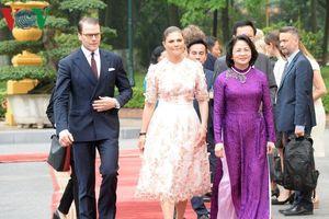 Toàn cảnh lễ đón Công chúa kế vị Thụy Điển thăm chính thức Việt Nam