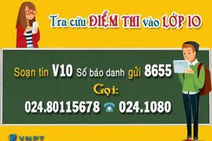 Tra cứu điểm thi vào lớp 10 qua Tổng đài 1080 VNPT Hà Nội