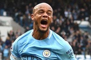 Bảng xếp hạng 5 giải quốc gia hàng đầu châu Âu: Kompany cứu Man City