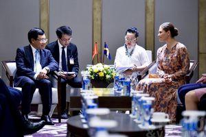 Phó Thủ tướng Phạm Bình Minh tiếp Công chúa kế vị Thụy Điển Victoria Ingrid Alice Desiree