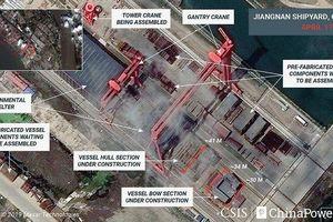 Lộ diện hình ảnh đầu tiên về tàu sân bay thứ 3 của Trung Quốc