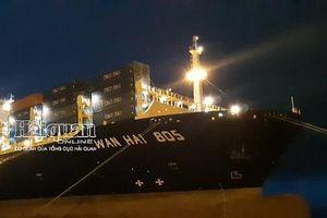 Cảng container quốc tế Hải Phòng tiếp tục đón tàu trọng tải lớn hơn 100.000 tấn Cảng container quốc tế Hải Phòng tiếp tục đón tàu trọng tải lớn hơn 100.000 tấn