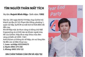 Thanh niên chạy Goviet mất tích bí ẩn ở Gò Vấp