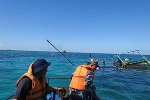 6 ngư dân bị nạn trên biển được chăm sóc tốt