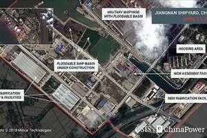 Hình ảnh tàu sân bay mới của Trung Quốc 'rò rỉ' qua ảnh chụp vệ tinh