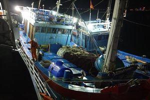 Cứu cùng lúc hai tàu cá gặp nạn tại vùng biển Hoàng Sa