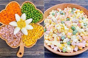 Làm salad Nga với nước sốt béo ngậy chuẩn vị, ai ăn cũng phải xuýt xoa